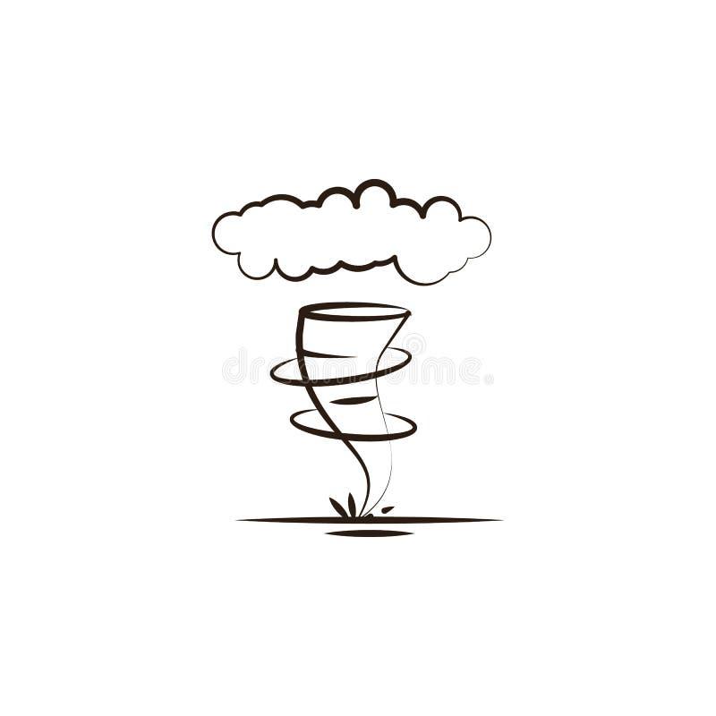 zandstorm, woestijnpictogram Element van woestijnpictogram voor mobiel concept en Web apps De hand trekt zandstorm, kan het woest vector illustratie