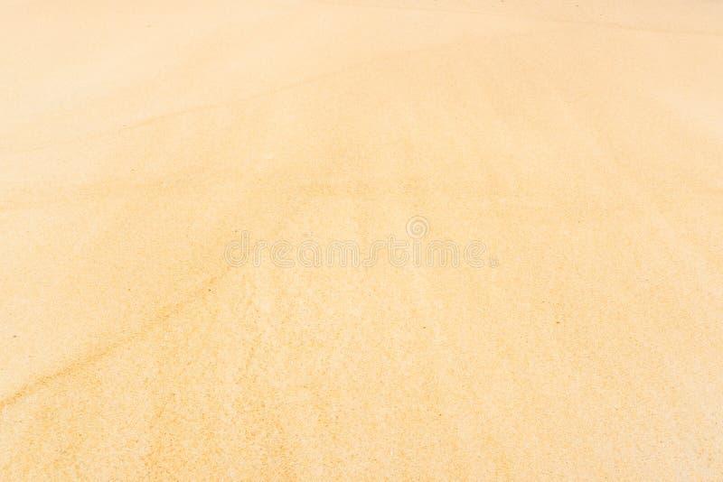 Zandstrand voor textuur en achtergrond stock afbeelding