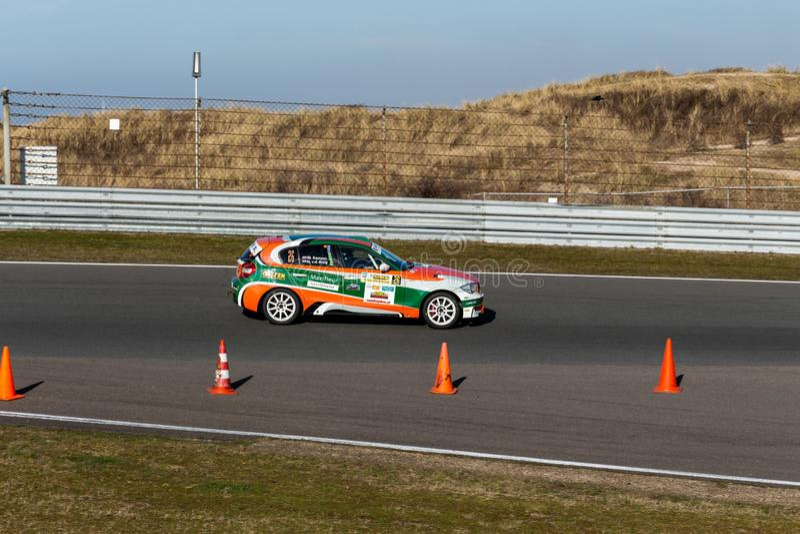 Zandvoort, βόρεια Ολλανδία/οι Κάτω Χώρες - 23 Φεβρουαρίου 2019: 8η κοντός-συνάθροιση κυκλωμάτων στο κύκλωμα Zandvoort BMW φυλών μ στοκ εικόνες