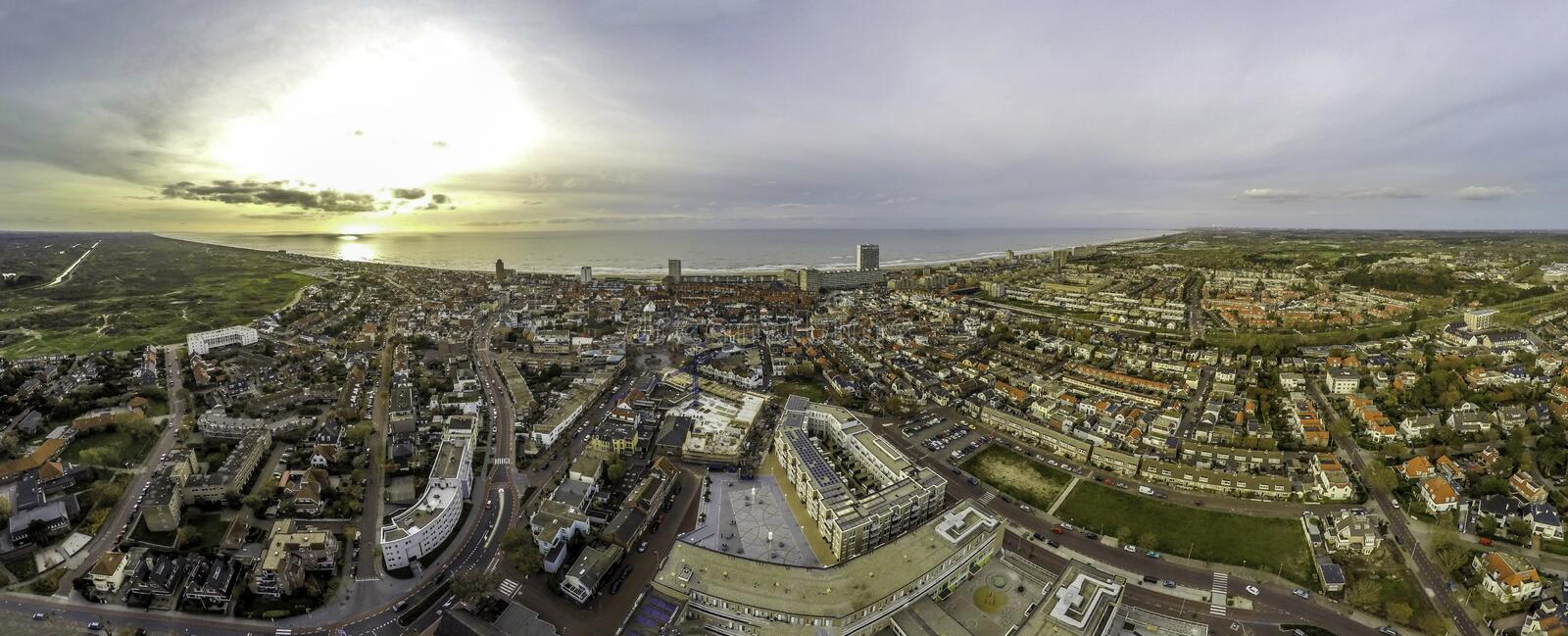 Zandvoort aerial picture royalty free stock photo