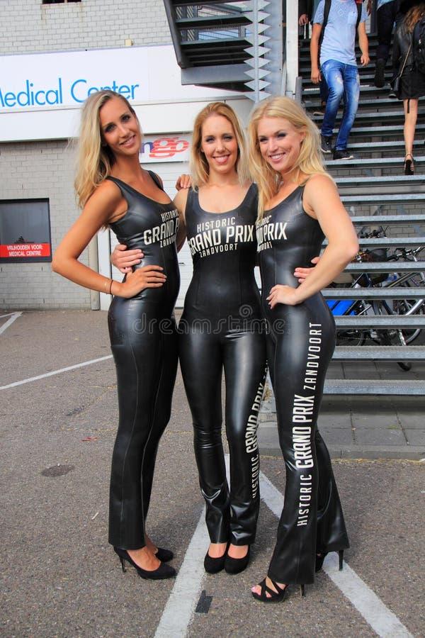 Zandvoort olandese del gruppo fondatore delle ragazze di griglia fotografie stock libere da diritti