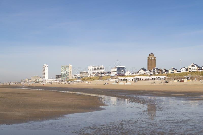 Zandvoort Zee/aan Pays-Bas photo stock