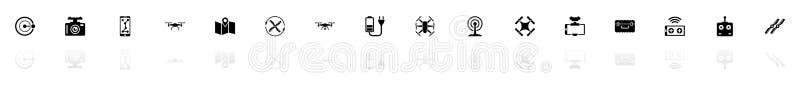 Zangão - ícones lisos do vetor