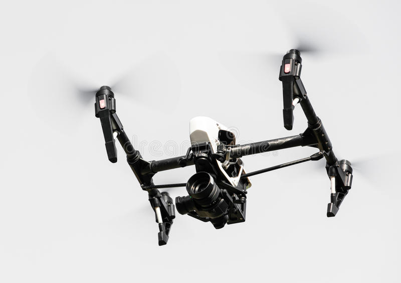 Zangão com voo da câmera 4K foto de stock royalty free