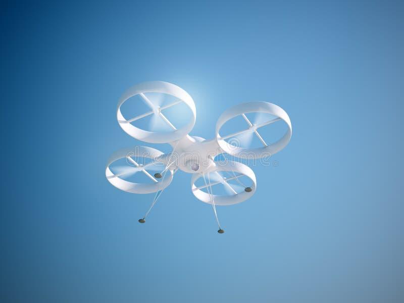 Zangão de Quadcopter ilustração stock