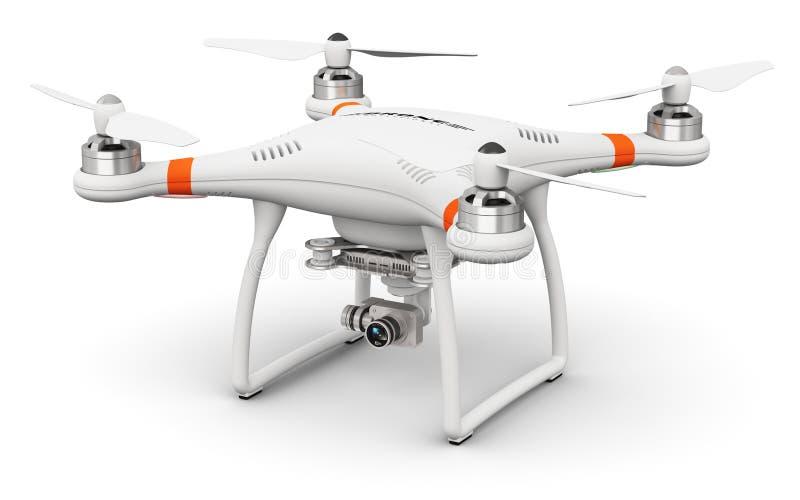 Zangão de Quadcopter com a câmera do vídeo 4K e da foto ilustração royalty free