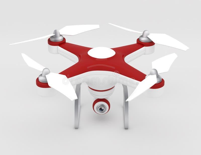 Zangão de Quadrocopter ilustração royalty free