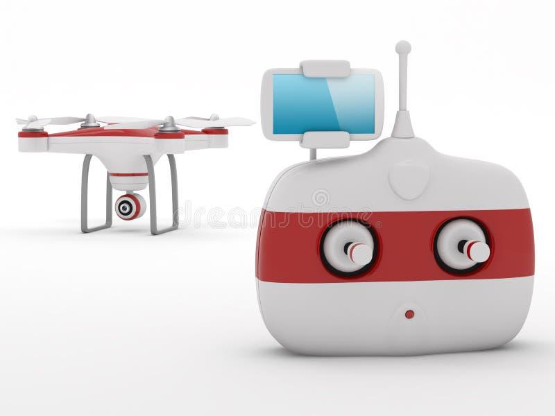 Zangão de Quadrocopter ilustração stock