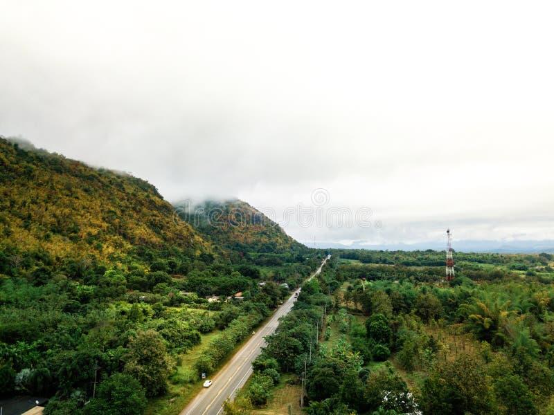 zangão disparado da natureza da paisagem em Tailândia fotografia de stock royalty free