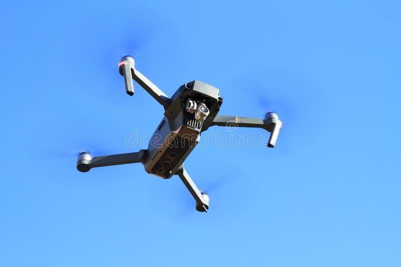 Zangão do voo com câmera imagem de stock royalty free