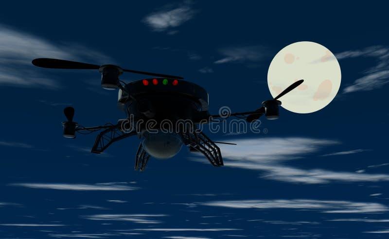 Zangão do voo na noite ilustração do vetor