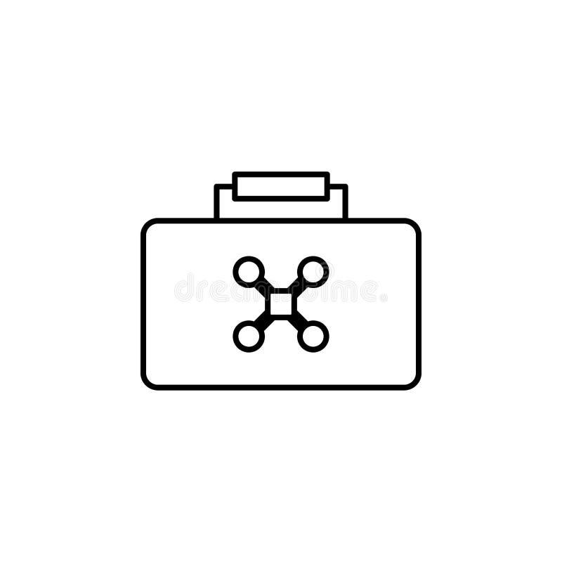 zangão em um ícone do saco Elemento dos zangões para a ilustração móvel dos apps do conceito e da Web A linha fina ícone para o p ilustração stock