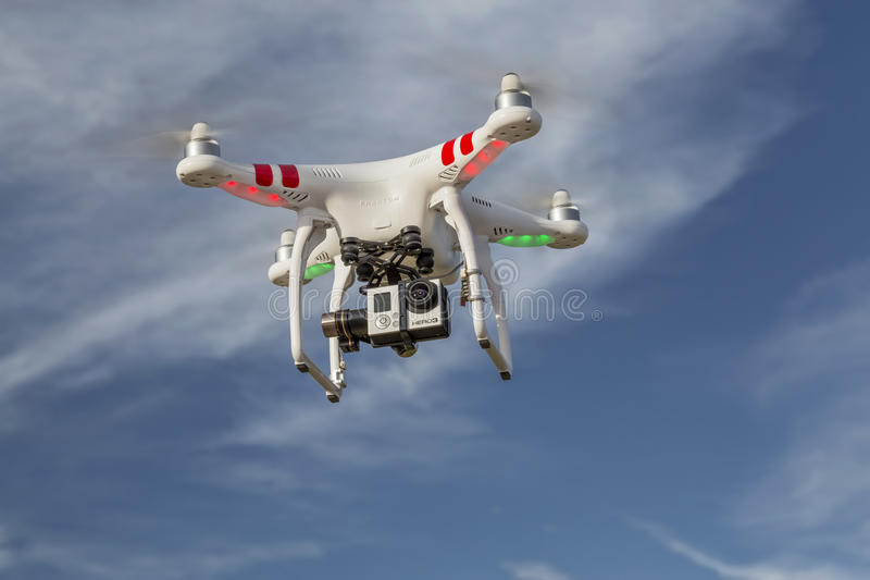 Zangão fantasma do quadcopter de DJI fotografia de stock
