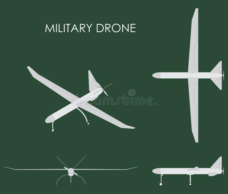 Zangão militar colorido ilustração do vetor