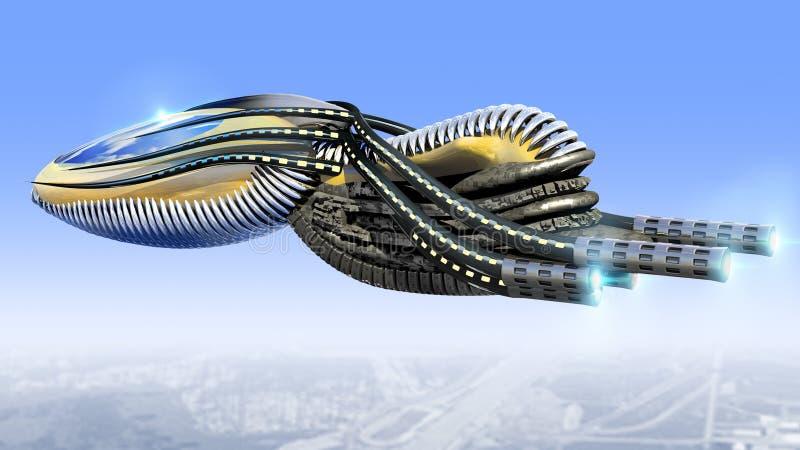 Zangão militar futurista para jogos da fantasia ilustração do vetor