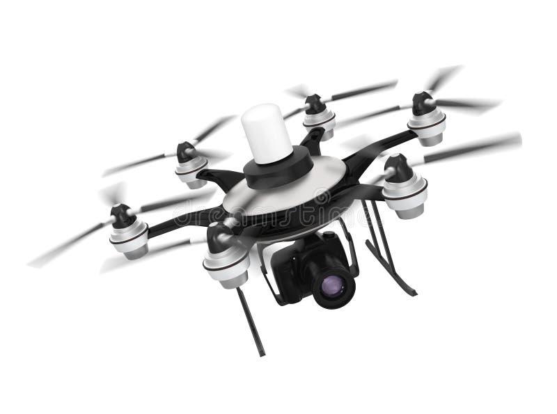 Zangão montado com o DSLR para a fotografia aérea