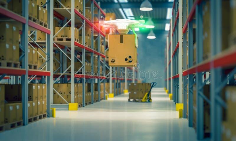 Zangão no trabalho no armazém