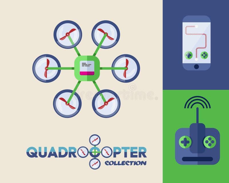 Zangão ou quadrocopter ilustração royalty free