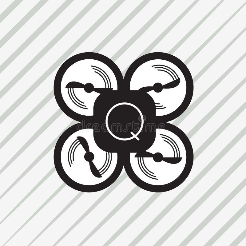 Zangão ou quadrocopter ilustração stock