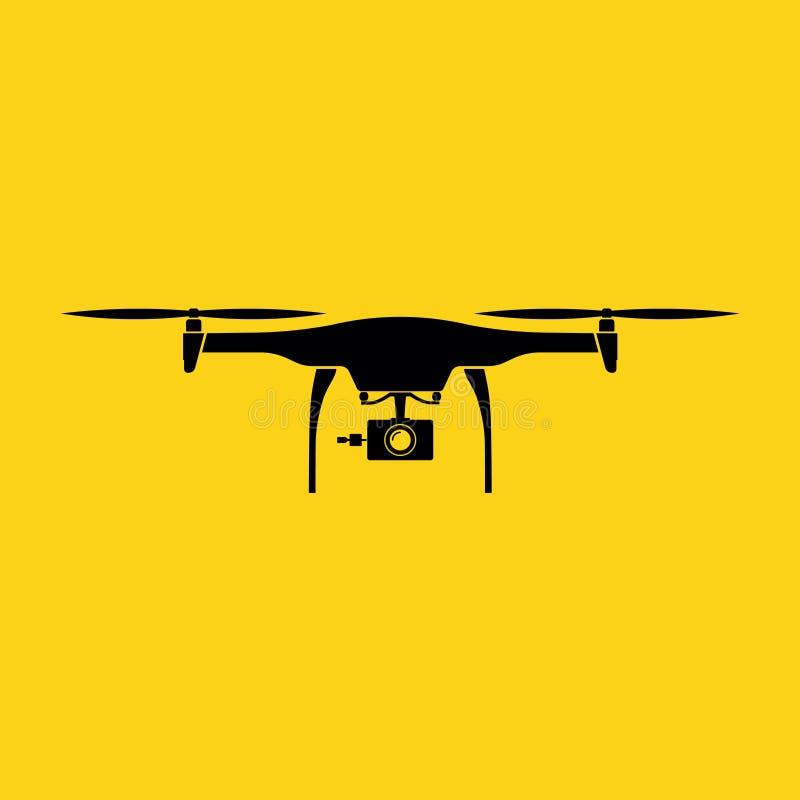 zangão Projeto liso preto do vetor da cor com fundo amarelo