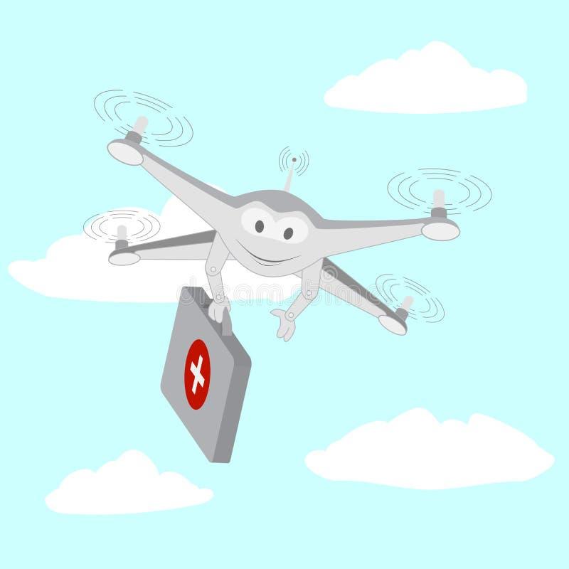 zangão Serviços de ambulância O céu ilustração royalty free