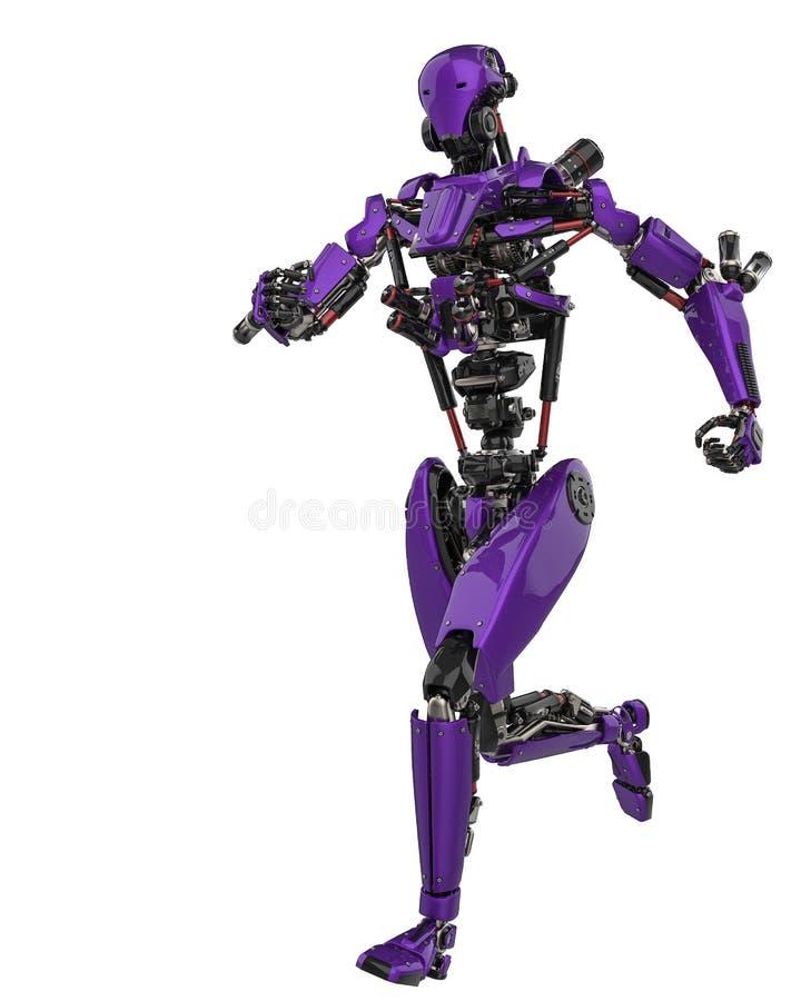 Zangão super do robô roxo mega em um fundo branco ilustração do vetor