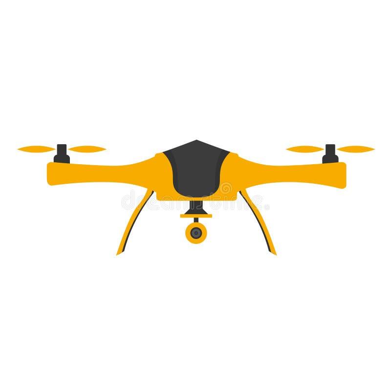 Zangões com câmera da ação Projeto liso Quadrocopter do zangão ilustração do vetor