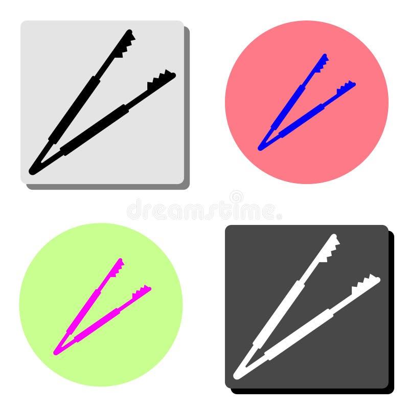 Zange, Pinzette Flache Vektorikone stock abbildung