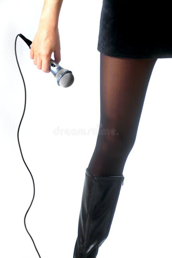 Zanger en een microfoon stock fotografie