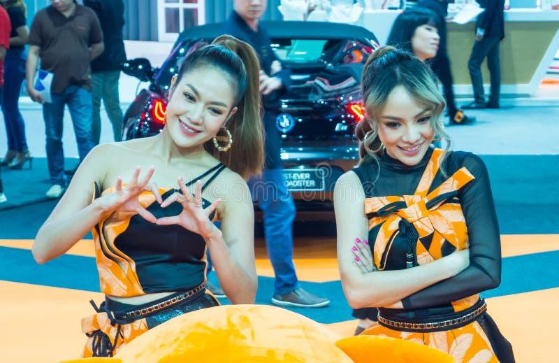 Zanger van het de nieuwe en ontmoet de Thaise meisjesduo van Jiew en begroet ventilatorclub royalty-vrije stock afbeelding
