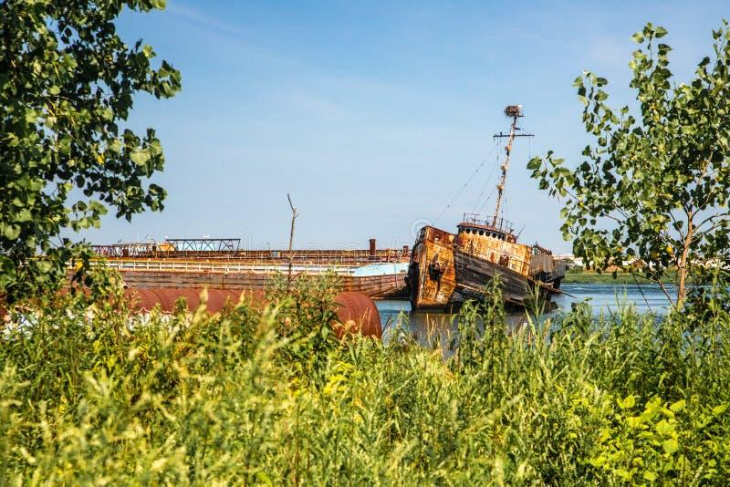 Zaniechana łódź w Staten Island Miasto Nowy Jork, fotografia royalty free