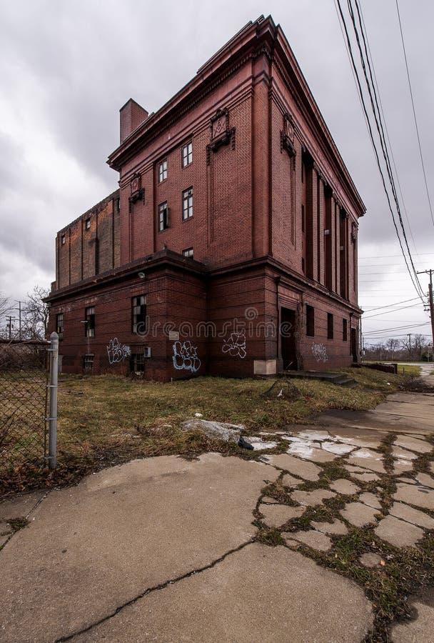 Zaniechana Ashlar stróżówka Żadny 639 Wolnomularska świątynia - Cleveland, Ohio fotografia stock