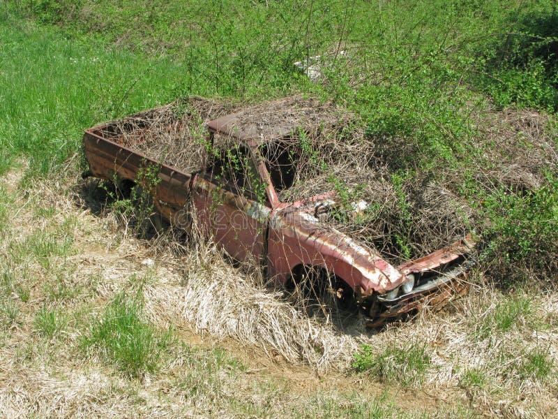Zaniechana ciężarówka Zakrywająca Dzikiej rośliny przyrostem obraz stock