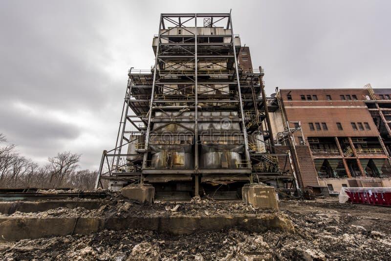 Zaniechana elektrownia - Ohio zdjęcia stock