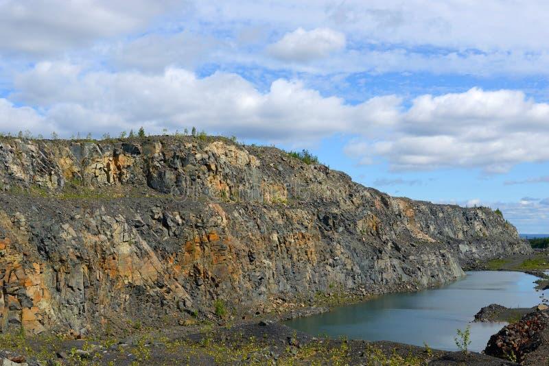 Zaniechana kopalnia w Północnym Finlandia, Lapland zdjęcie royalty free
