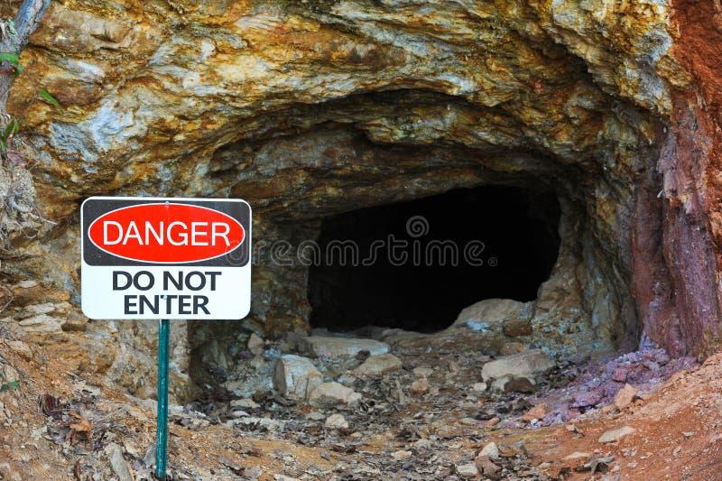 Zaniechana kopalnia złota fotografia stock