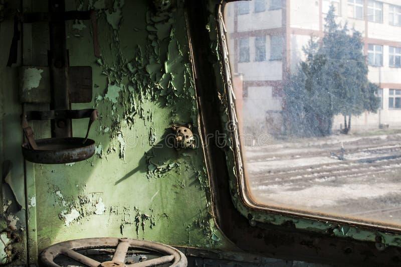 Zaniechana samochód kabina obraz stock