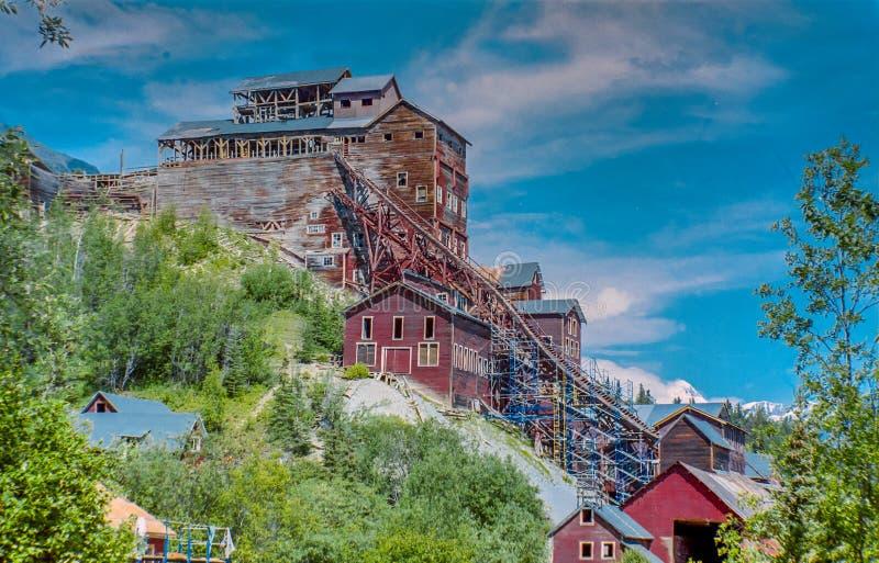 Zaniechana stara kopalnia miedzi w Alaska -1 fotografia royalty free
