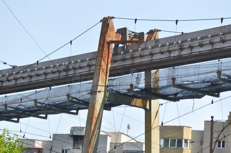 Zaniechana węglowego transportu linia zdjęcie royalty free