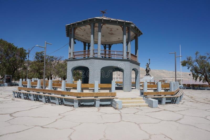 Zaniechana wioska Chuquicamata, Atacama, Chile obraz stock