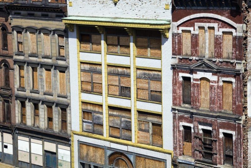 zaniechani domy Louisville zdjęcia royalty free