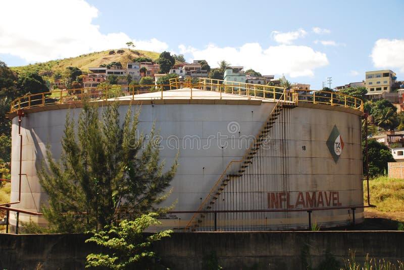 Zaniechani Nafciani zbiorniki w Vitoria, Brazil_05 zdjęcie royalty free