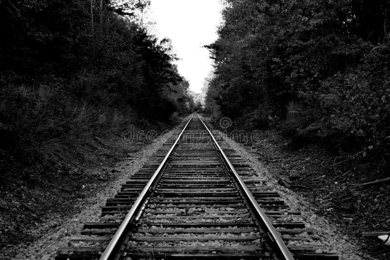 Zaniechani pociągów ślada obraz royalty free