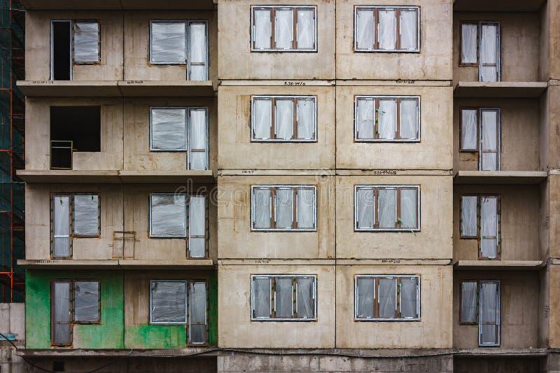 Zaniechany betonowy budynek fotografia stock
