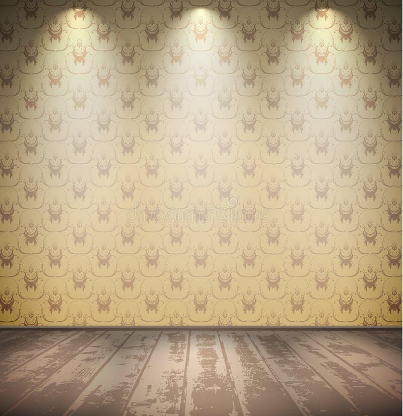 Zaniechany blady pokój ilustracji