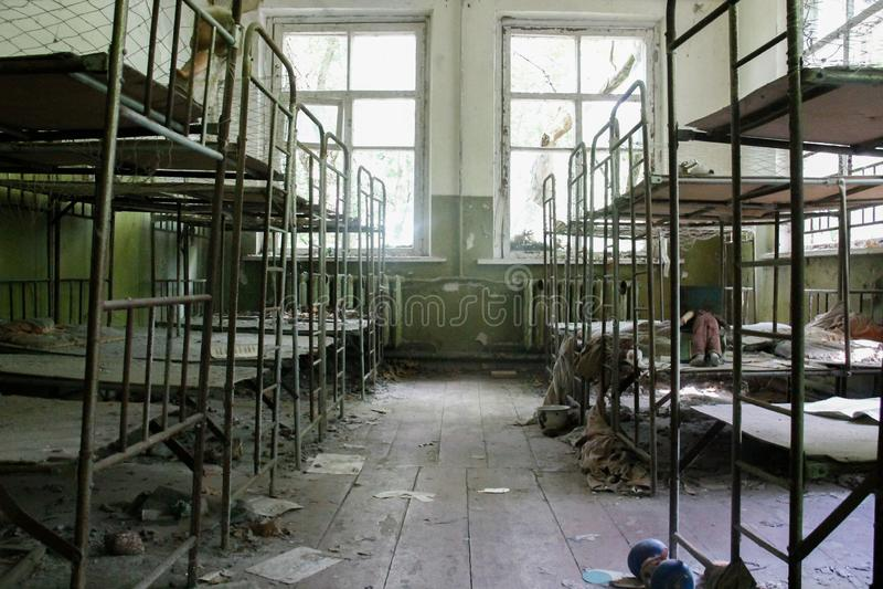 Zaniechany dzieciniec w Chernobyl terenie zdjęcie royalty free