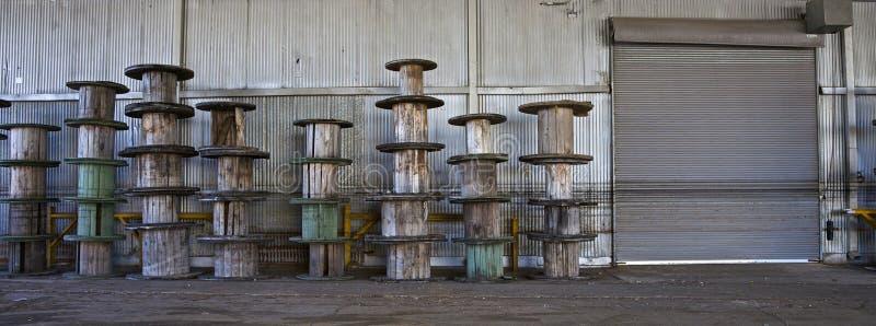 zaniechany fabryczny metal fotografia royalty free