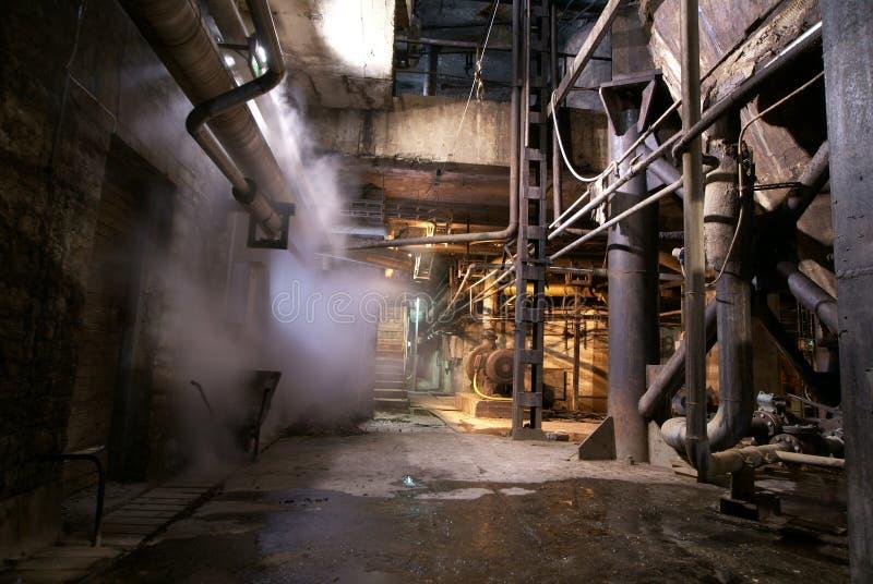 zaniechany fabryczny stary obrazy stock