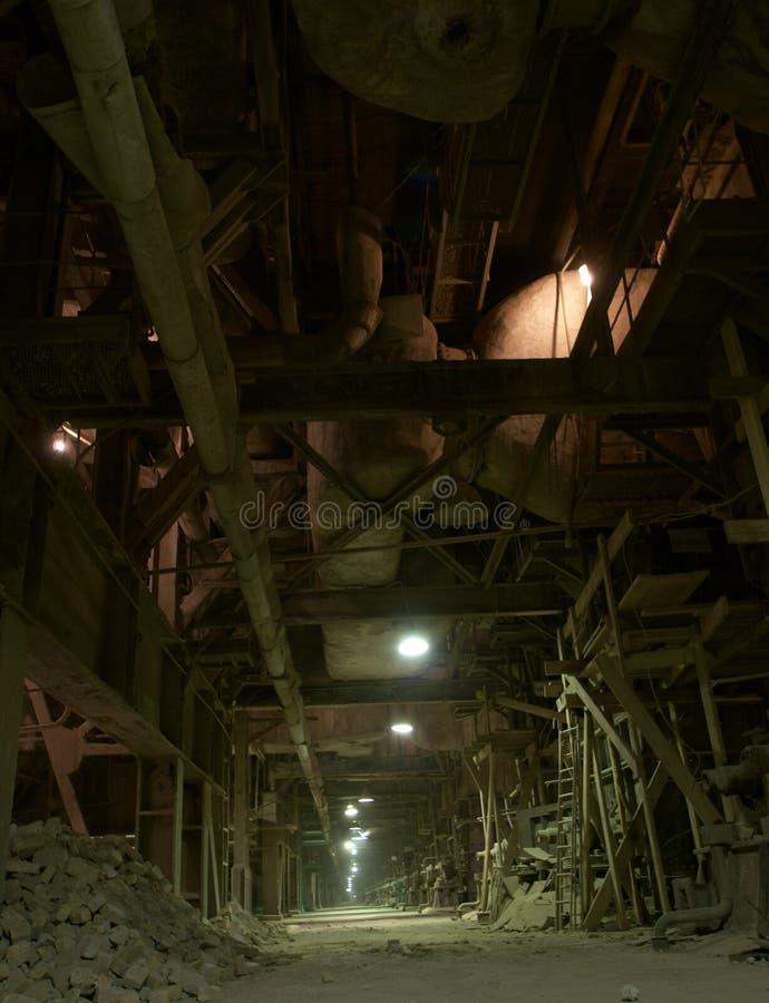zaniechany fabryczny stary zdjęcie stock