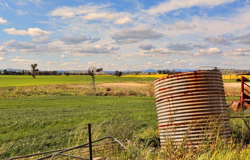 Zaniechany gospodarstwo rolne w wiejskim Australia obrazy royalty free